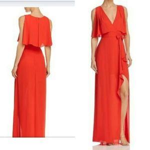 Bcbg MaxAzria Red Gown Fennella Dress XXS 0 XS